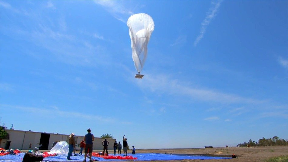 Интернет на воздушных шарах Гугл