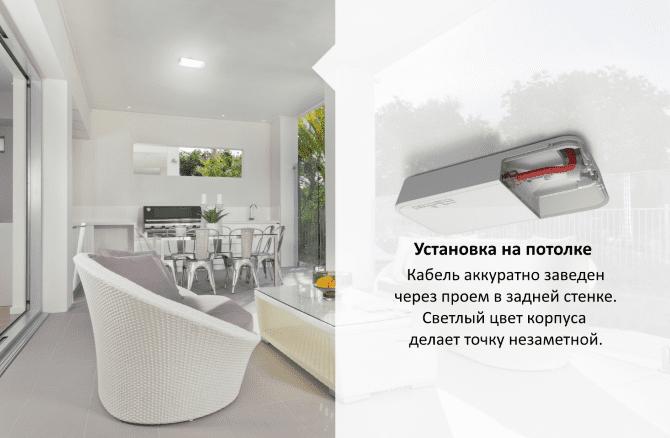 Установка MikroTik wAP на потолке