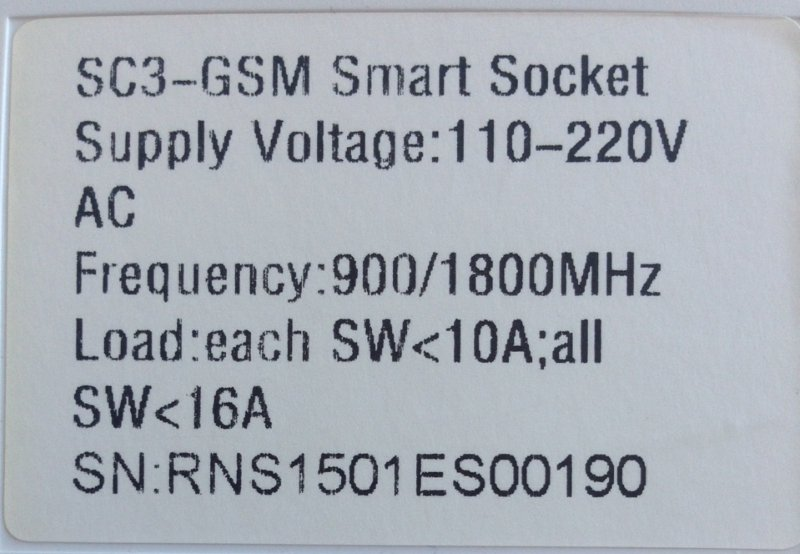 Параметры SC3-GSM