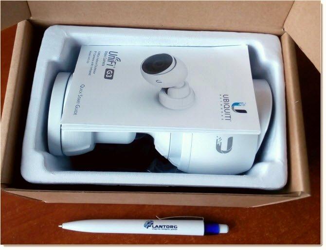 UniFi Video Camera G3 в упаковке