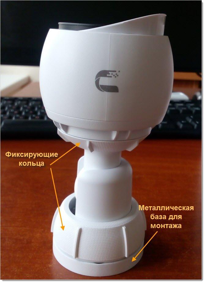 Камера UniFi G3 в собранном из коробки виде