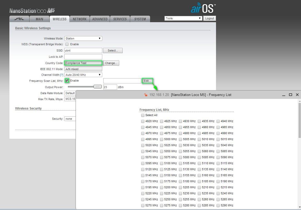Частоты Compliance Test