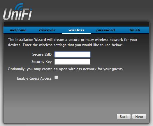 Скриншот настойки UniFi №2