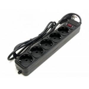 Сетевой фильтр удлинитель LogicPower LP-X5, 5 розеток, цвет серый, 1,8 m