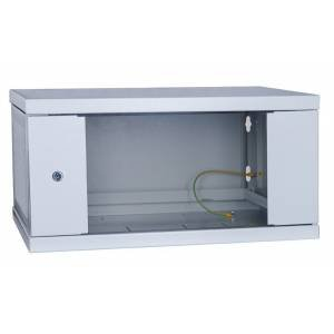 Шкаф телекоммуникационный настенный 6U СН-6U-06-04-ДС-1-7035