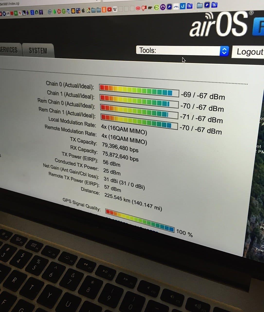 Ubiquiti AirFiber AF-5X дальность