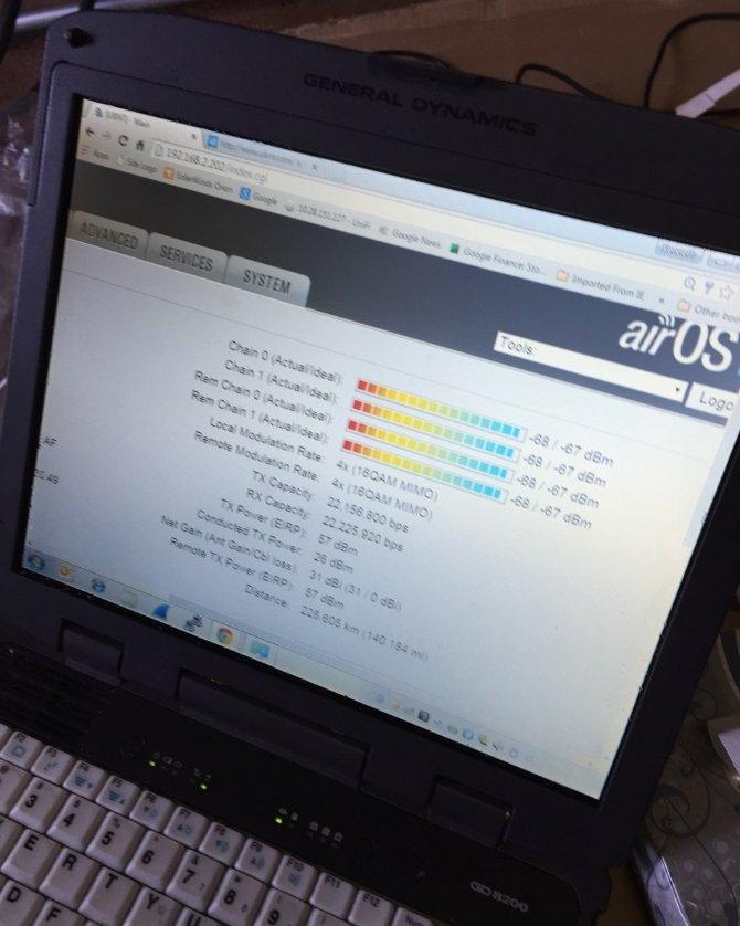 Скрин показателей линка на стандартной прошивке