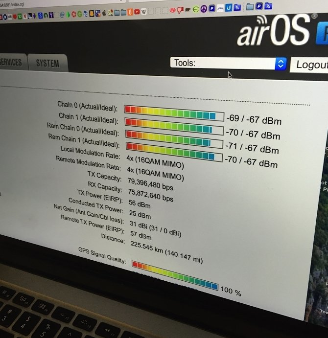 AirFiber 5x 155 Мбит/сек