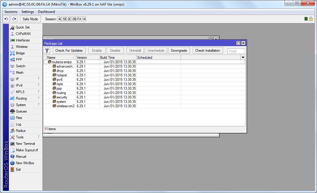 HAP Lite IPV6