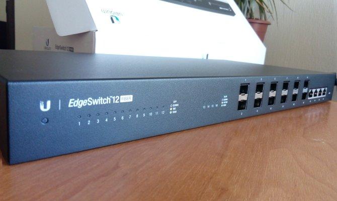 Распаковка Ubiquiti EdgeSwith 12 Fiber