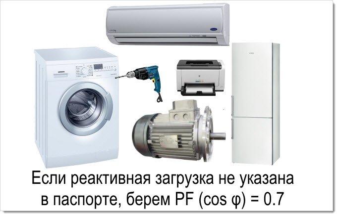 Power Factor устройств с реактивной нагрузкой