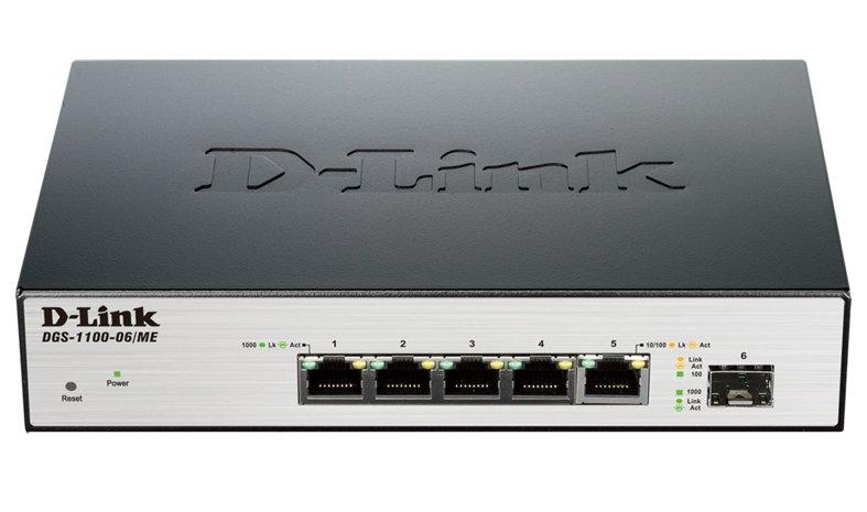 Коммутатор 2-го уровня D-Link DGS-1100-06/ME