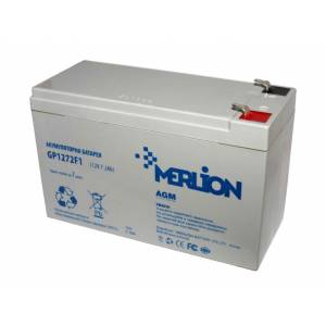 Аккумуляторная батарея MERLION AGM GP1272F1 12 V 7,2AH