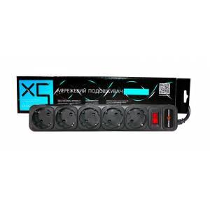 Сетевой фильтр удлинитель LogicPower LP-X5, 5 розеток, цвет-черный, 10 m (OEM)