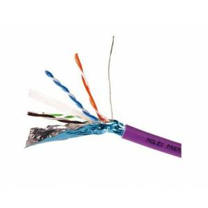 Кабель Molex CAA-0322L-VL U/FTP кат.6A, LSZH, 4 пары, 500м