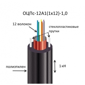 Кабель ОЦПс-12А1(1х12)-1,0