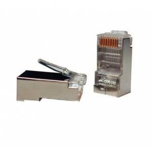 Коннекторы RJ-45 (100 шт) экранированные FTP