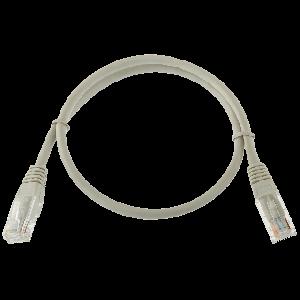 Logicpower патч-корд литой UTP, RJ45, кат. 5Е, 0,5 m (серый)