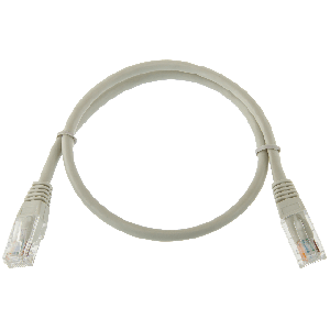 Logicpower патч-корд литой UTP, RJ45, кат. 5Е, 1 m (серый)