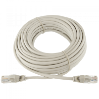 Logicpower патч-корд литой UTP, RJ45, кат. 5Е, 10 m (серый)