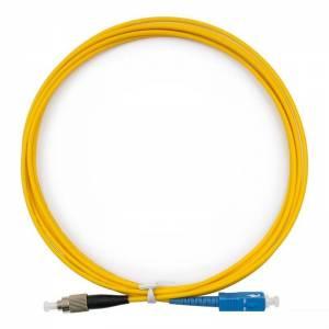 Патч-корд оптический внутренний Fibercord SC/UPC-FC/UPC SM Simplex 3mm 1 m