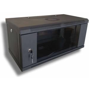 Hypernet WMNC-30-4U-FLAT- BLACK шкаф коммутационный настенный 4U 600x300 разборной