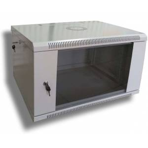 Hypernet WMNC-35-6U-FLAT- BLACK шкаф коммутационный настенный 6U 600x350 разборной