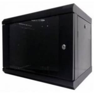 Hypernet WMNC-35-9U-FLAT- BLACK шкаф коммутационный настенный 9U 600x350 разборной