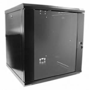 Hypernet WMNC66-12U-FLAT- BLACK шкаф коммутационный настенный 12U 600x600 разборной