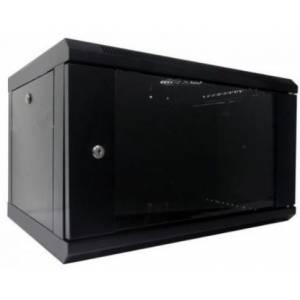 Hypernet WMNC66-6U-FLAT- BLACK шкаф коммутационный настенный 6U 600x600 разборной